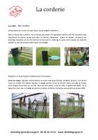 La Corderie – fabrication des cordes – Avril 2016